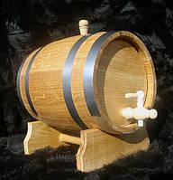 Дубовая бочка 10л для вина, коньяка, виски (нержавейка)