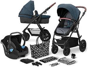 Универсальная детская коляска 3 в 1 с автокреслом и родительской сумкой Kinderkraft XMoov