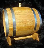 Дубовая бочка 20л для вина, коньяка, виски (нержавейка)