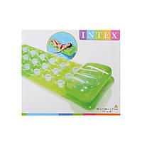 Пляжный надувной матрас стаканчики,с подушкой INTEX 58890