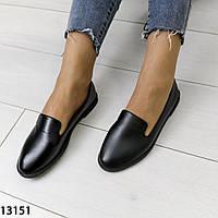Женские туфли черные мягкая эко кожа, фото 1