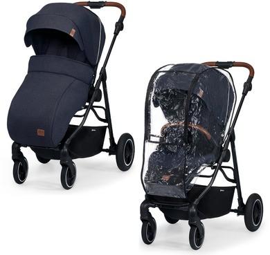 Детская прогулочная коляска с реверсивным блоком Kinderkraft all road imperial blue