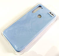 Чохол для Xiaomi Redmi Note 8 матовий Silicone Case Full Cover Macarons Color Блакитний
