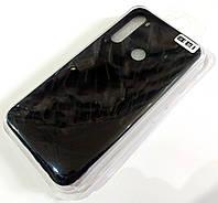 Чехол для Xiaomi Redmi Note 8 матовый Silicone Case Full Cover Macarons Color Черный
