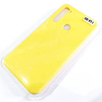 Чохол для Xiaomi Redmi Note 8 матовий Silicone Case Full Cover Macarons Color Жовтий