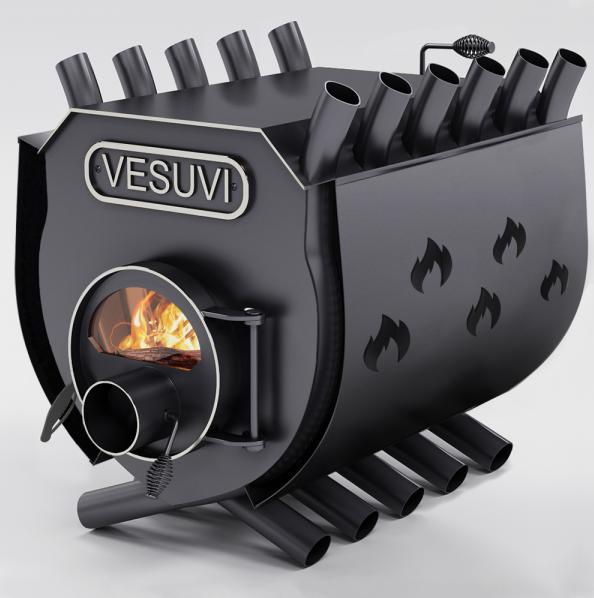 Булерьян «Vesuvi» с варочной поверхностью «03»+стекло и защитный кожух (перфорация)