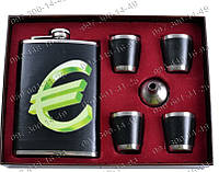 Интересные подарки Мужской Подарочный набор Евро al-403 Фляга+лейка+4 рюмки Фляга для туриста Набор мужчины