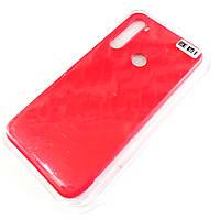 Чохол для Xiaomi Redmi Note 8 матовий Silicone Case Full Cover Macarons Color Червоний