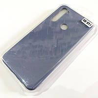 Чехол для Xiaomi Redmi Note 8 матовый Silicone Case Full Cover Macarons Color Серый