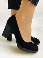 Жіночі модельні туфлі-човники високої якості.Polann. Натуральна замша. Супер комфорт. 35 39 40, фото 2