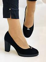 Жіночі модельні туфлі-човники високої якості.Polann. Натуральна замша. Супер комфорт. 35 39 40, фото 4