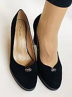 Жіночі модельні туфлі-човники високої якості.Polann. Натуральна замша. Супер комфорт. 35 39 40, фото 8