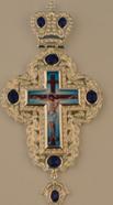 Крест наперстный  серебр. камнями