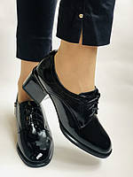 Женские осенние глубокие туфли. Натуральная лакированная кожа . Molka. 36,37,38,39,40,41, фото 4