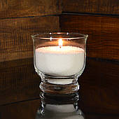 Насыпная свеча белая, h 90 мм, Ø 90 мм, из пальмового воска