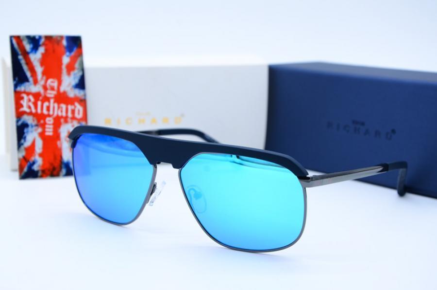 Мужские фирменные  солнцезащитные прямоугольные очки Thom Richard