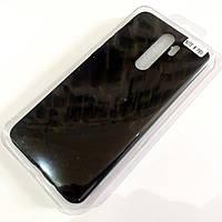 Чохол для Xiaomi Redmi Note 8 Pro матовий Silicone Case Full Cover Macarons Color Чорний