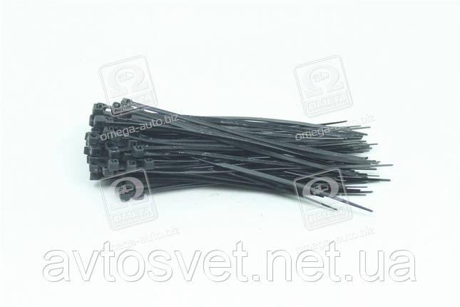 Хомут пластиковий 3.6х150мм. чорний 100шт./уп. DK22-3.6х150ВК, фото 2
