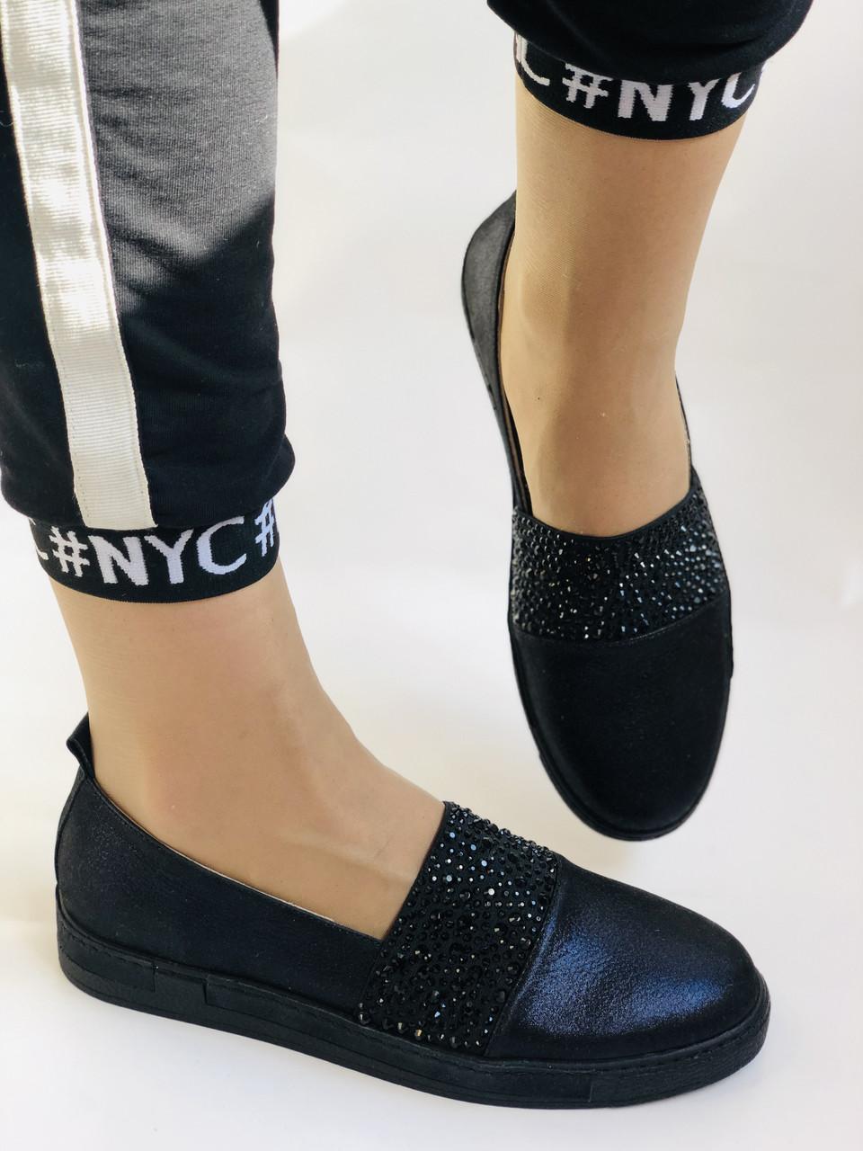 Стильні жіночі туфлі-сліпони . Натуральна шкіра.Туреччина.36-40 Vellena