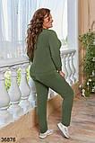 Женский спортивный костюм штаны + кофта с V вырезом р. 48-50, 52-54, 56-58, 60-62, фото 4