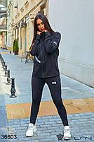 Стильный спортивный костюм с вставками плащевки с 44 по 48 размер, фото 2