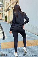 Стильный спортивный костюм с вставками плащевки с 44 по 48 размер, фото 4