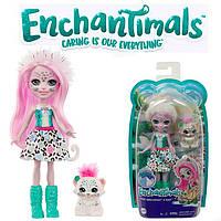 Кукла Энчантималс Снежный Барс Сибилла с питомцем Флаке Enchantimals Sybill Snow Leopard GJX42