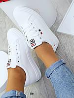 Женские кроссовки кеды белые, фото 1