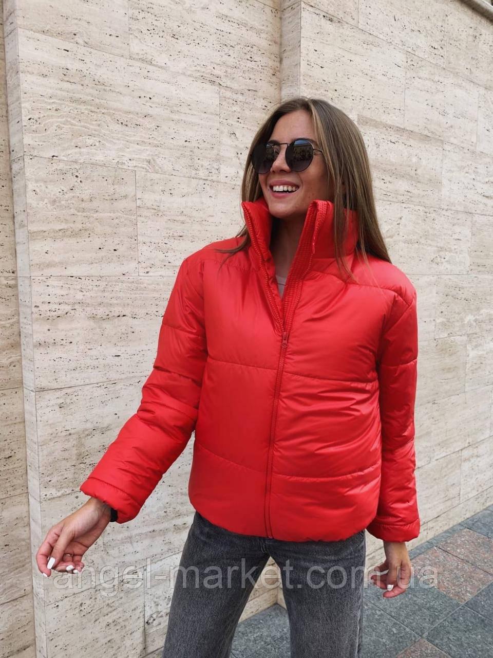 Осенняя  женская  куртка с воротником стойка .Новинка 2020
