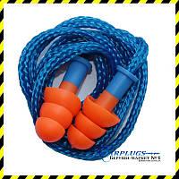 Противошумные ушные вкладыши Deltaplus Conisfir050 + шнурок, Франция. SNR 29dB! Мин. заказ 10 пар., фото 1