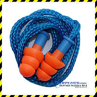 Беруши многоразовые Deltaplus Conisfir050 + шнурок, Франция. SNR 29dB!, фото 1