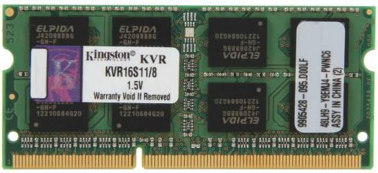 Оперативна пам'ять для ноутбука Kingston DDR3 1600 8GB SO-DIMM (KVR16S11/8), фото 2