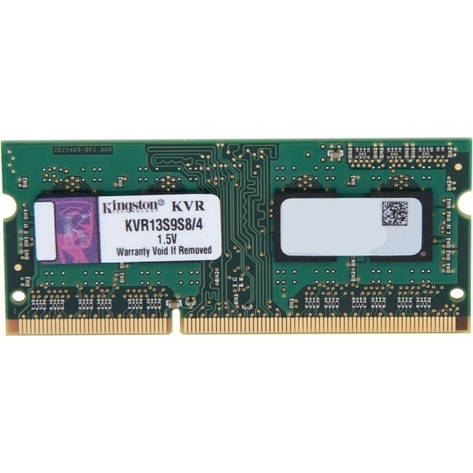 Оперативная память для ноутбука Kingston DDR3 1333 4GB SO-DIMM (KVR13S9S8/4), фото 2