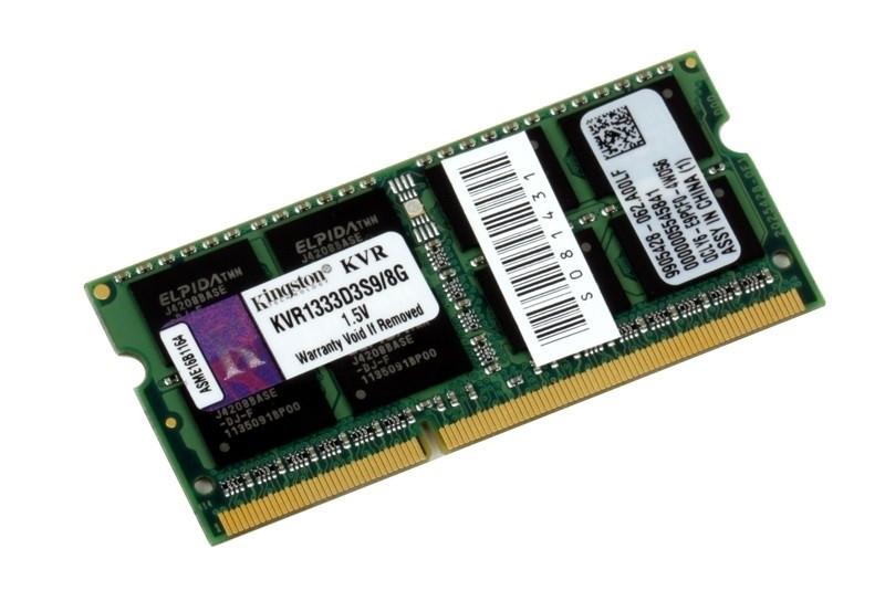 Оперативная память для ноутбука Kingston DDR3 1333 8GB SO-DIMM (KVR1333D3S9/8G)