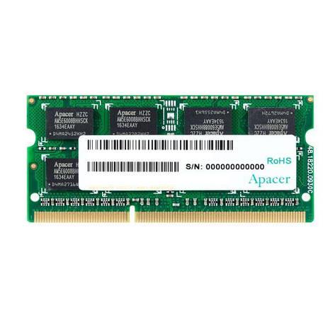 Оперативная память для ноутбука Apacer DDR3 1600 2GB SO-DIMM (DS.02G2K.HAM), фото 2