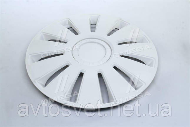Колпак колесный R16 REX белый 1шт.  DK-R16RW, фото 2