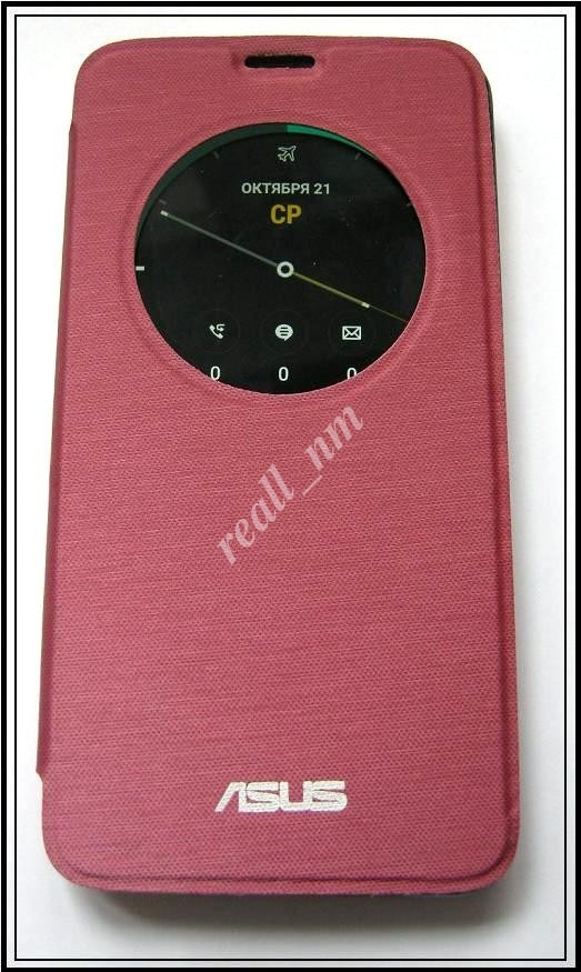 Бордовый чехол View Flip Cover для смартфона Asus ZenFone 2 ZE551ML