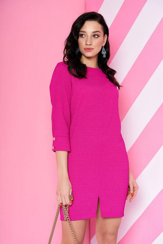Стильное платье-мини в офисном стиле розовое, S(44), фото 2