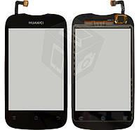 Touchscreen (сенсорный экран) для Huawei Ascend Y201 U8666, черный, оригинал