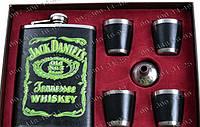 """Интересные подарки Мужской Подарочный набор """"Jack Daniels"""" №401 Фляга+лейка+4 рюмки Фляга для мужчины"""