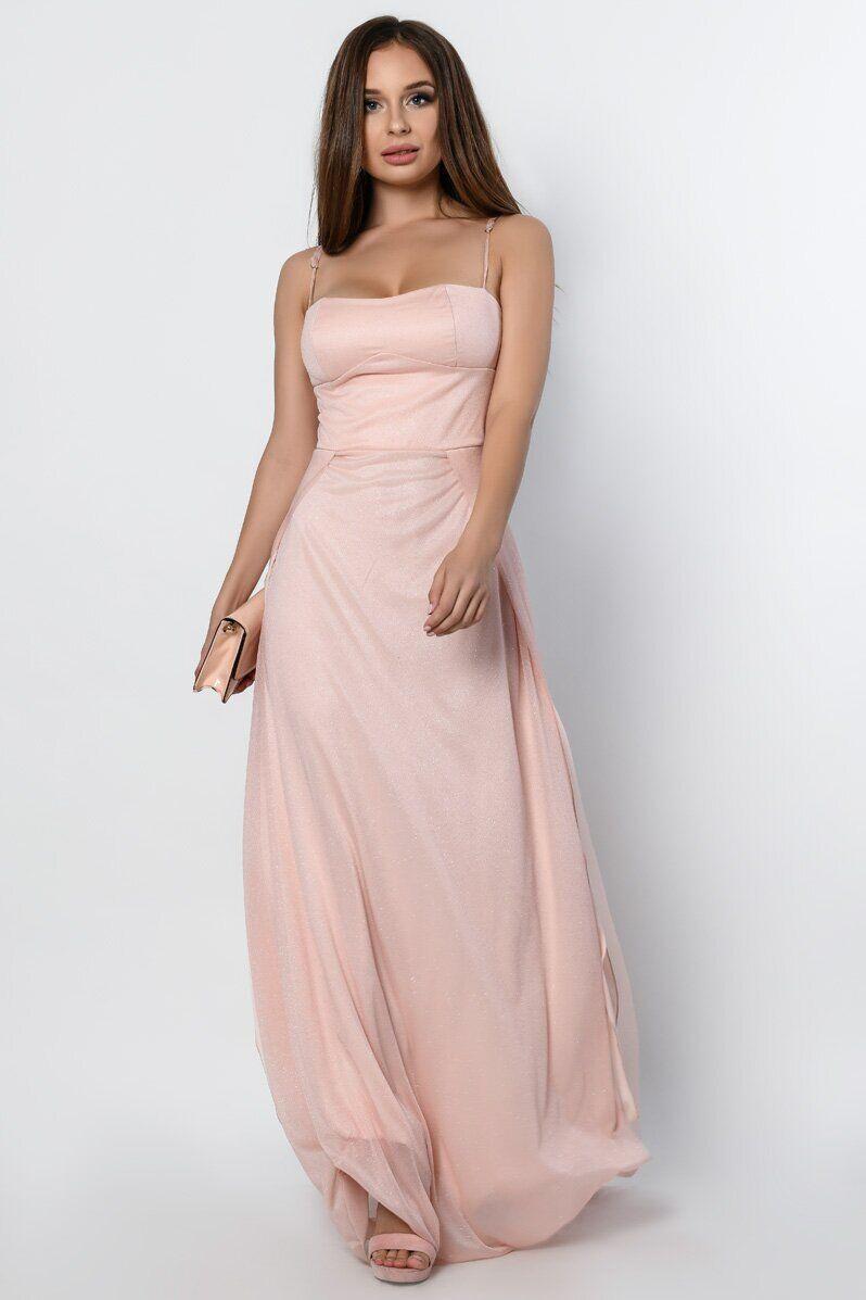 Длинное вечернее платье с разрезом KP-10310-27, L(48)
