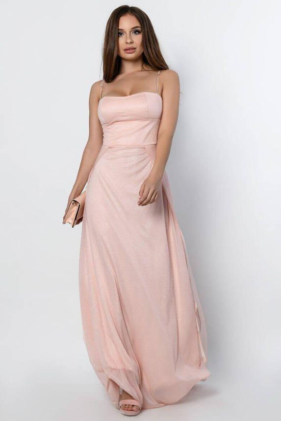 Длинное вечернее платье с разрезом KP-10310-27, L(48), фото 2