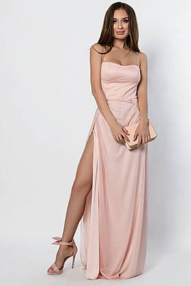 Длинное вечернее платье с разрезом KP-10310-27, L(48), фото 3