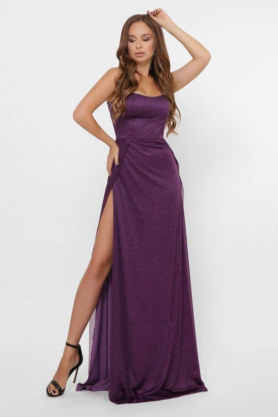 Вечернее платье в пол с разрезом KP-10310-19, L(48), фото 2