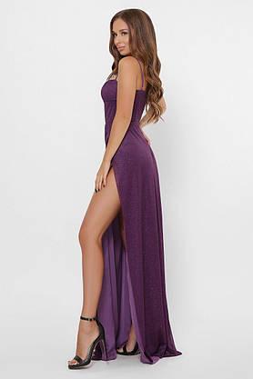 Вечернее платье в пол с разрезом KP-10310-19, L(48), фото 3