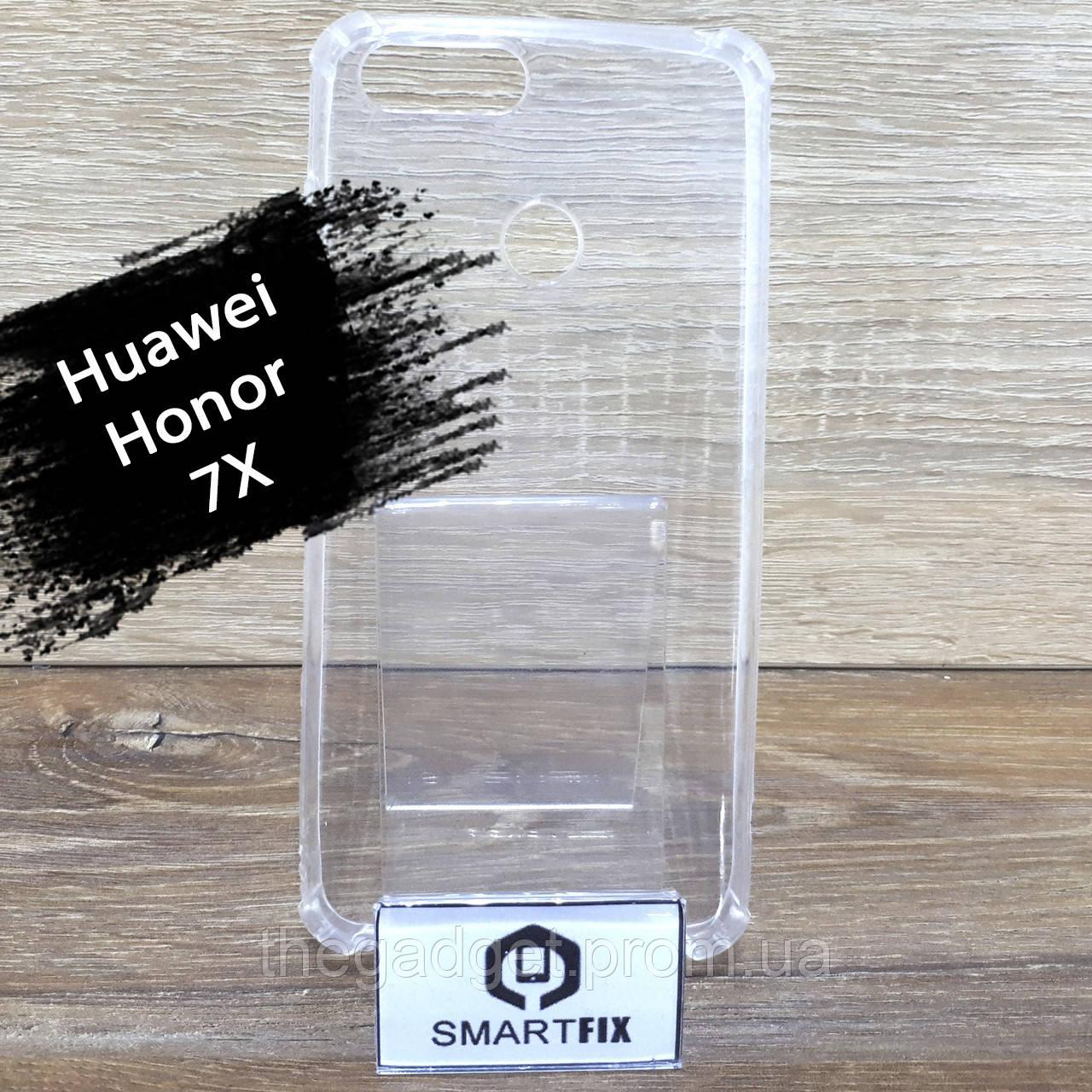 Прозрачный силиконовый чехол для Huawei Honor 7x (BND-L21)