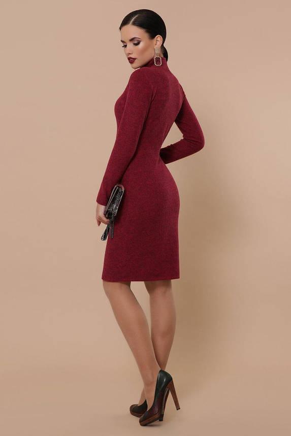 Ангоровое платье-гольф осеннее бордового цвета, S(44), фото 2