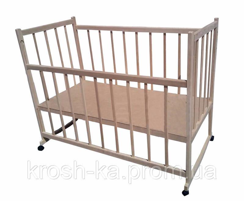 Кровать детская ольха не крашенная на ножках Эвисс Украина Эвисс-1