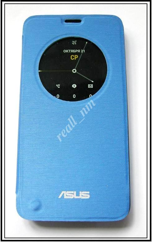 Синий чехол View Flip Cover для смартфона Asus ZenFone 2 ZE551ML