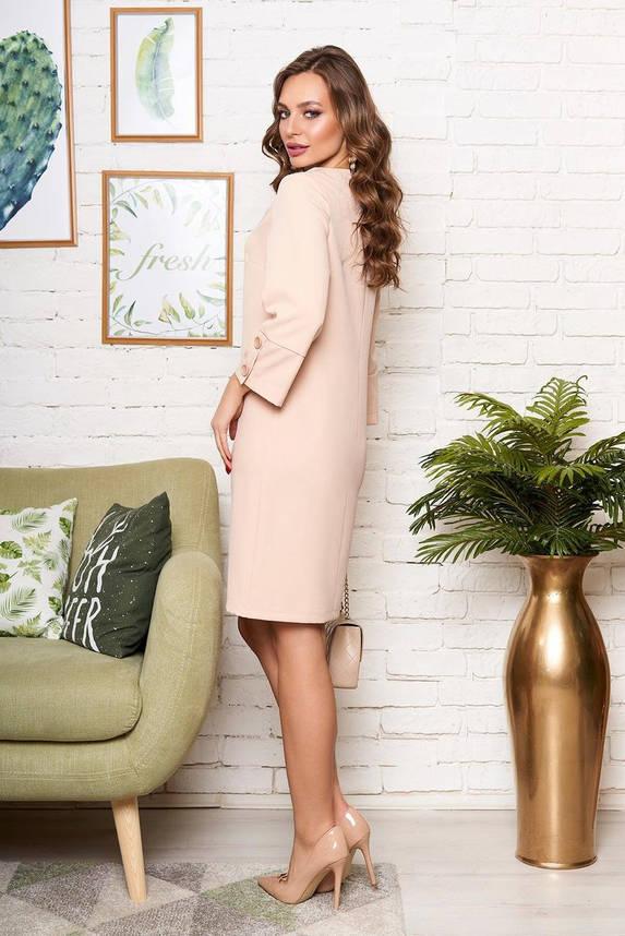 Бежевое платье в деловом стиле, S(44), фото 2